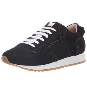 Kate Spade Fariah Sneaker Suede Black Ruffles Sz 7